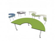 Podz Kidney Table Height Adjustable Parchment